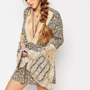 Free People Once Upon A Summertime Boho Romper XS